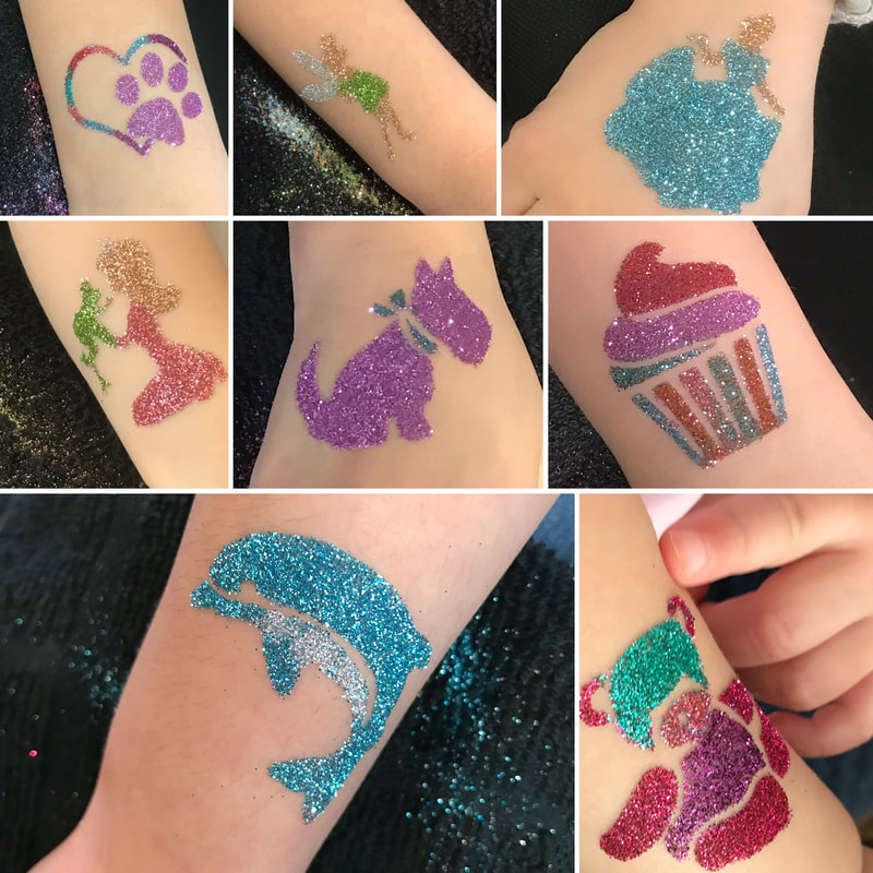 Glitter tattoo's for corporate events in Toronto, Newmarket, Barrie and gta!