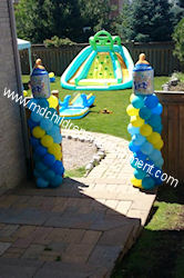 Baby Bottle Topper Balloon Columns - Toronto, Vaughan, Newmarket