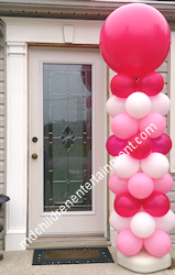 Balloon Column with 3 Foot Topper - Toronto, Newmarket