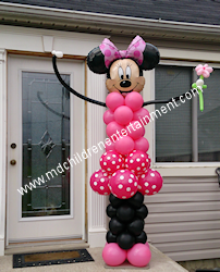 Life Size Minnie Mouse Balloon Column - Toronto