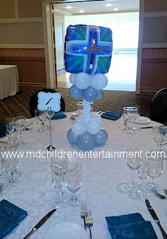 1st Communion Balloon Centerpieces - Decorations - Newmarket, Vaughan, Toronto