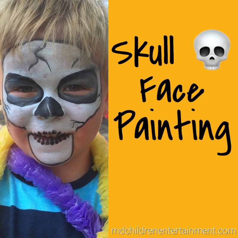 Skull face painting for kids! We service Toronto and the gta!