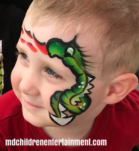 Dragon face painting! We offer face painting in Toronto!