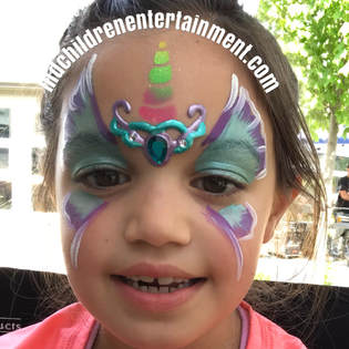 Face painting with bling! We create sparkling events in Toronto!
