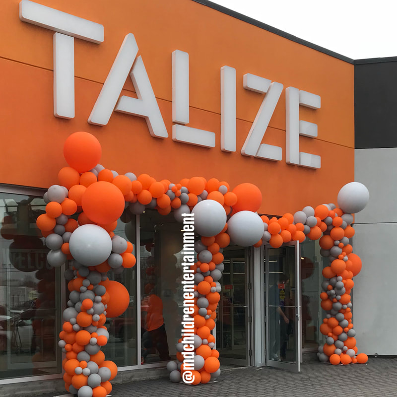 Balloon garland organic for Talize Grand Opening in Barrie!
